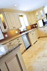 Photo of custom kitchen cabinets