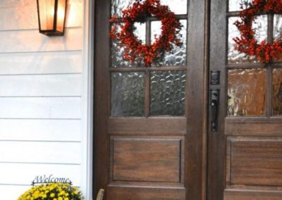 Fall is such a great time of the year to decorate your new door